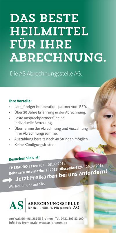 Anzeige der AS Abrechnungsstelle AG