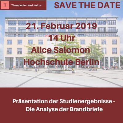 Kommen Sie zur Präsentation der Studienergebnisse - Analyse der Brandbriefe - am 21.02. in Berlin