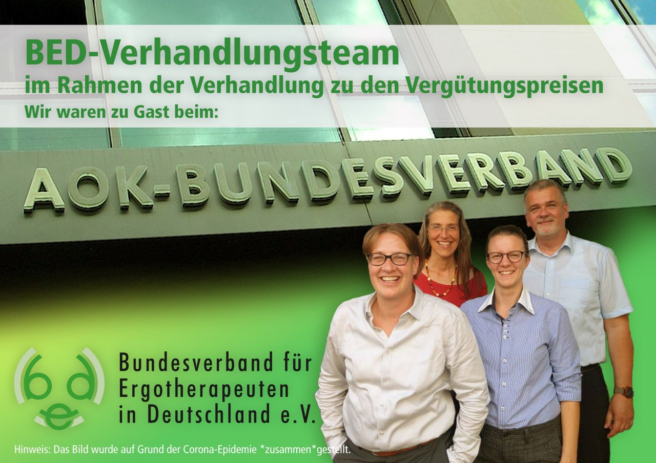 BED-Vergütungspreisverhandlungsteam v. l. n. r. Christine Donner, Andrea Hiller, Vanessa Diel, Volker Brünger