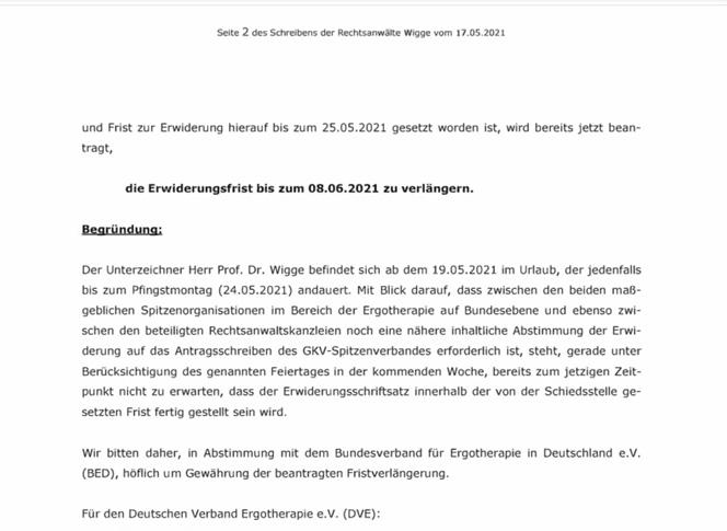 Schreiben der Kanzlei Wigge vom 17.05.